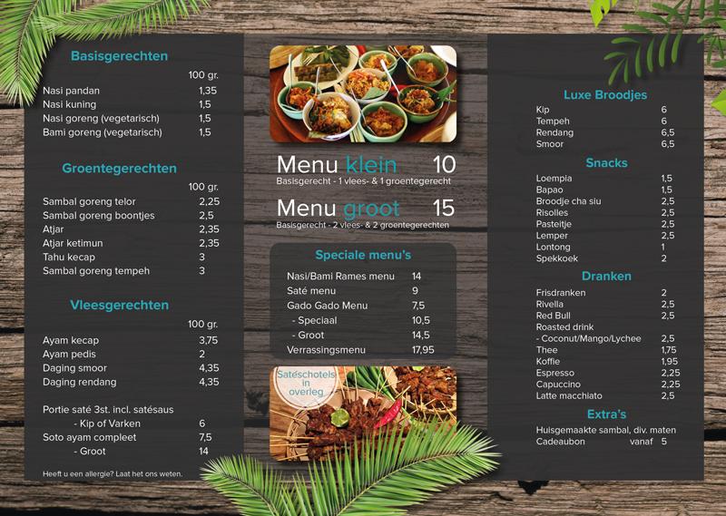 Download menukaart